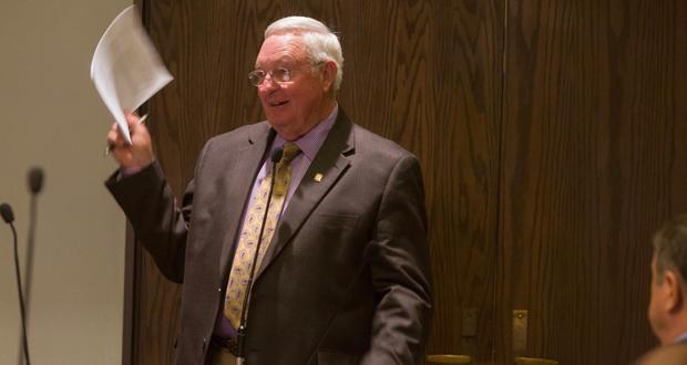 State Rep. Steve Kouplen speaks during an interim legislative study at the Oklahoma state Capitol in Oklahoma City Tuesday.