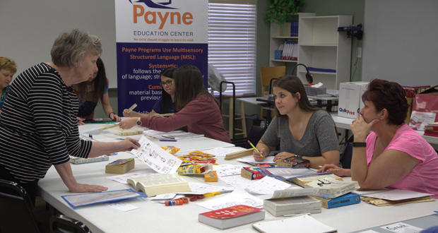 Teachers in training at Payne Education Center at 10404 Vineyard Blvd. in Oklahoma City.