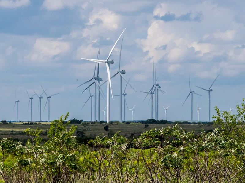 The Arbuckle Mountain Wind Farm in southern Oklahoma.