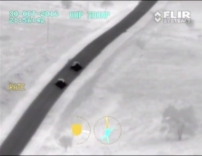 Dashcam footage for the Oklahoma Highway Patrol show the final pursuit of suspect Michael Vance