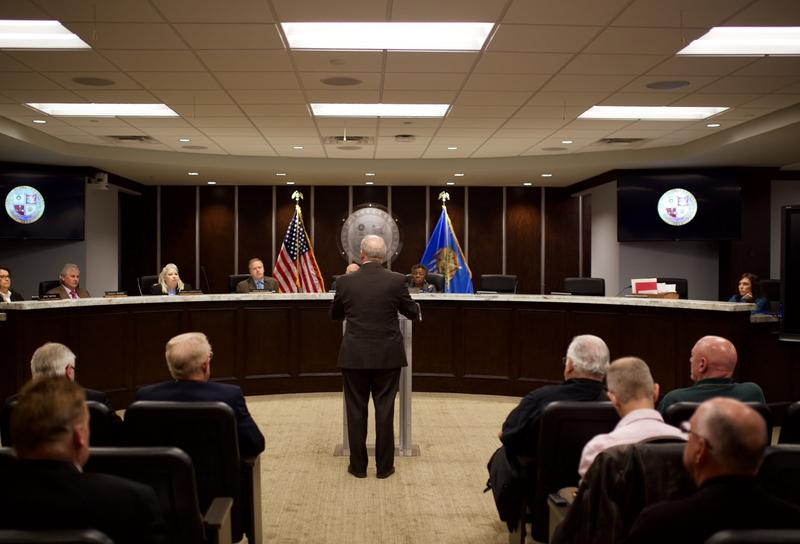 Oklahoma County District Attorney David Prater speaks to the Board of County Commissioners on Nov. 2.