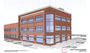 An artist's conception of a southwest view of the Oklahoma City Community Foundation's new building.