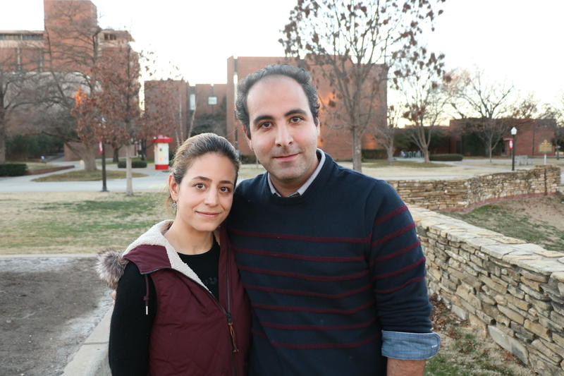 Norman, Oklahoma residents Elika Bahrevar and Amir Arshadi on Jan. 29, 2017.