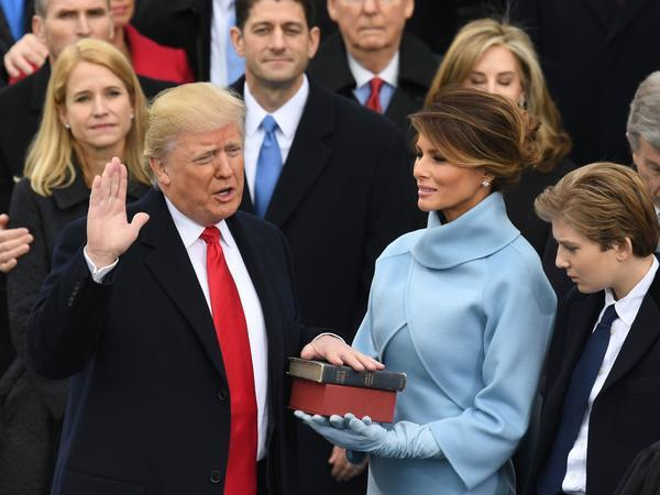 Donald Trump takes the oath of office