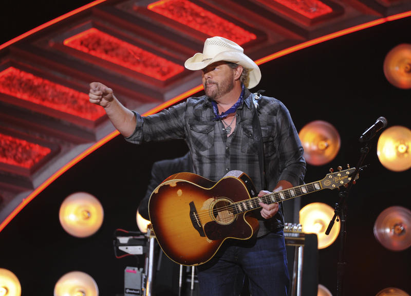 Toby Keith performs during the American Country Countdown Awards at the Forum on Sunday, May 1, 2016 in Inglewood, Calif.