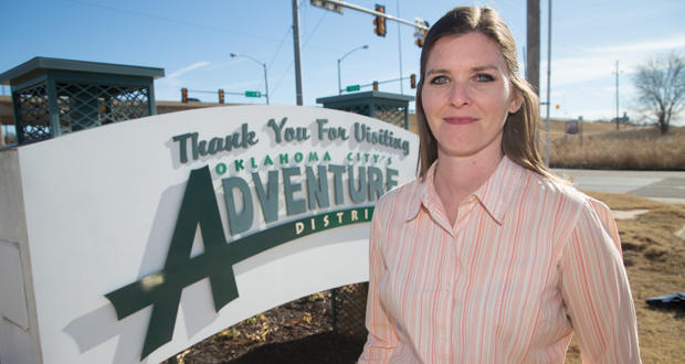 Tiffany Batdorf is the business improvement district chief executive for Oklahoma City's Adventure District.