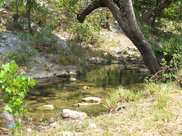 Mill Creek, southwest of Ada's Byrd's Mill Creek in south-central Oklahoma, also originates from the Arbuckle-Simpson Aquifer.