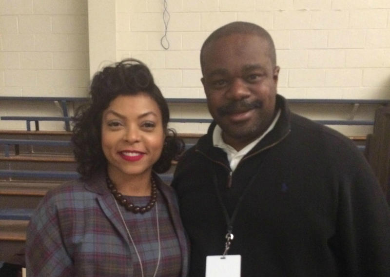 Hidden Figures star Taraji P. Henson and mathematician Rudy Horne.