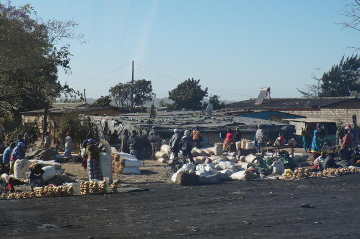 An informal settlement in Zambia, taken during John Harris' 2014 trip.