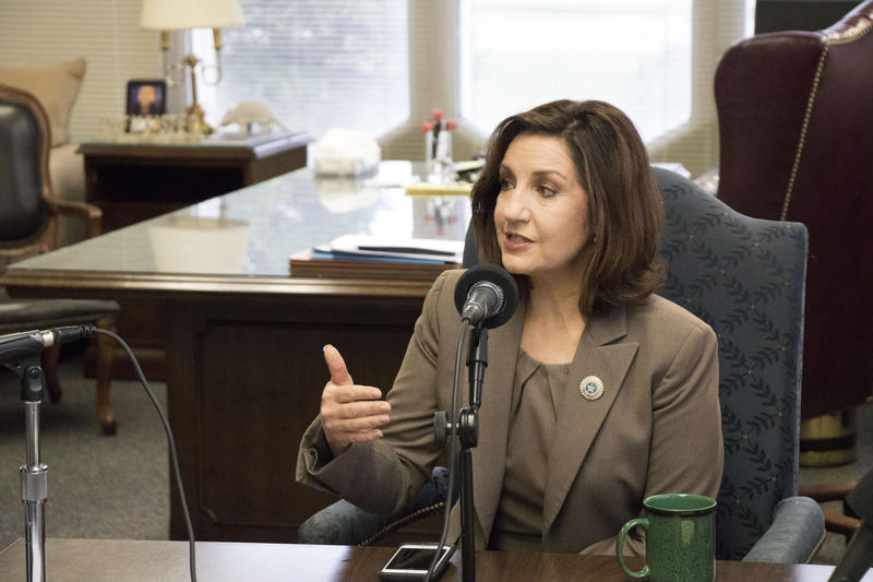Oklahoma state schools superintendent Joy Hofmeister discusses school issues during her interview for KGOU's Capitol Insider.