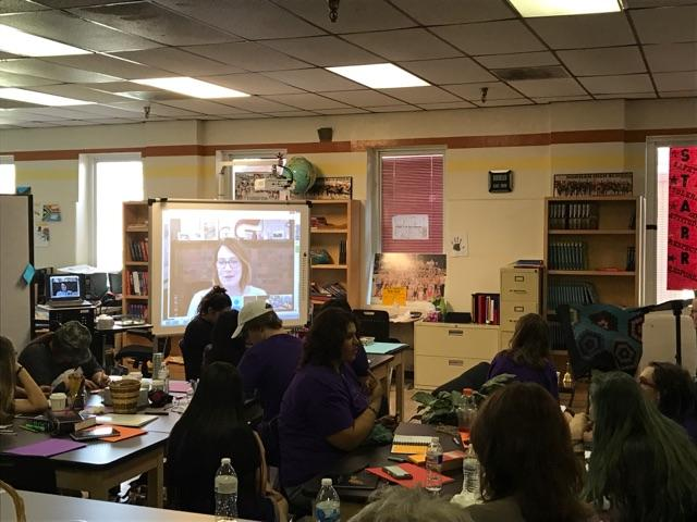 Author Gillian Flynn Talks To Students At Dimensions Academy High School In Norman On May 12 2017