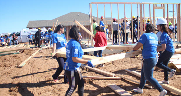 Volunteers start on a new home at 7308 Park Meadow in Oklahoma City's Legacy Estates addition as part of Central Oklahoma Habitat for Humanity's annual Women Build.