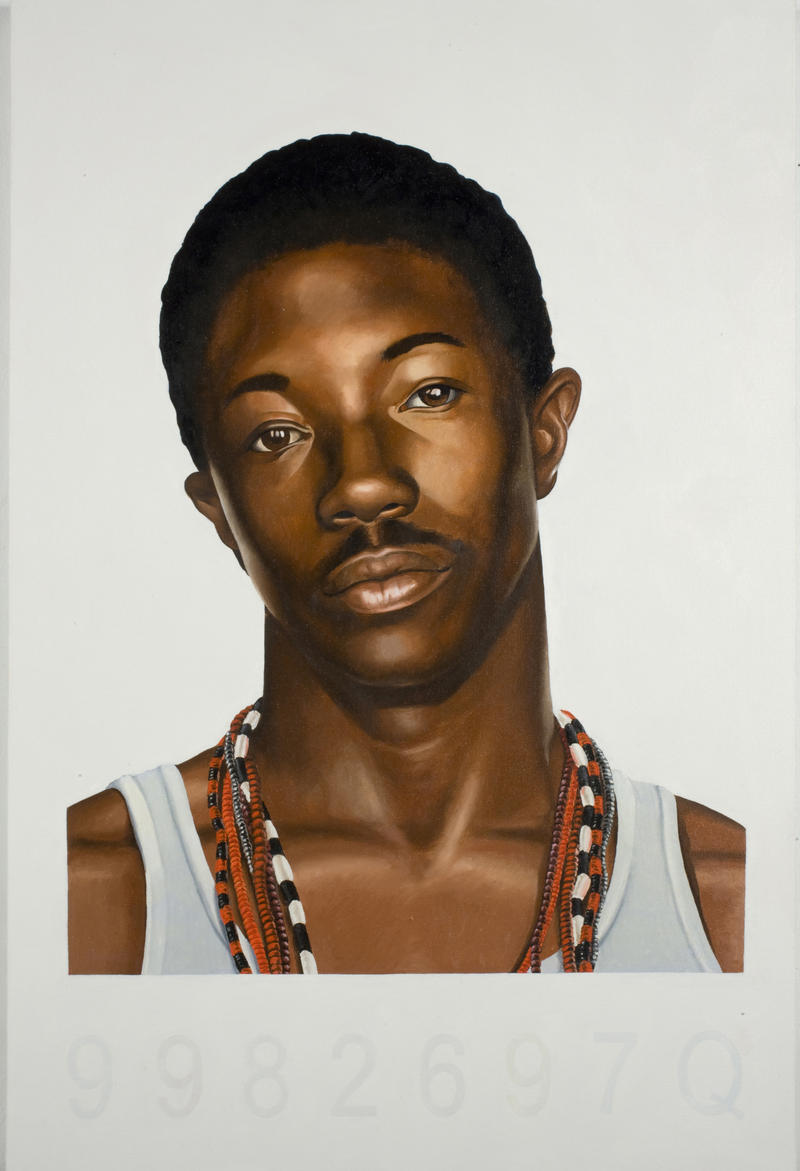 Mugshot Study, 2006. By Kehinde Wiley.