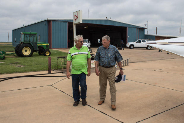U.S. Sen. Jim Inhofe, R-Oklahoma, promoted investment in infrastructure in a day-long tour that included a stop at the Frederick Regional Airport.