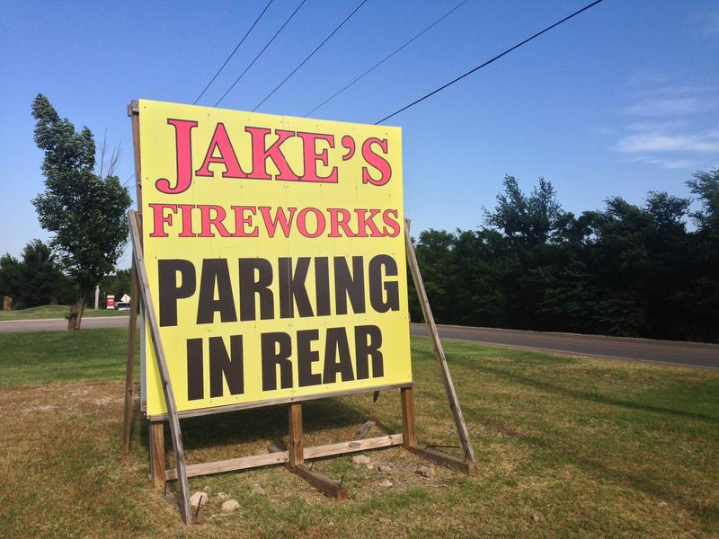 Jake's Fireworks in Logan County, Oklahoma