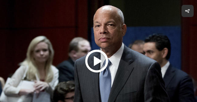 Former Homeland Security Secretary Jeh Johnson testifies before the House Intelligence Committee on June 21, 2017