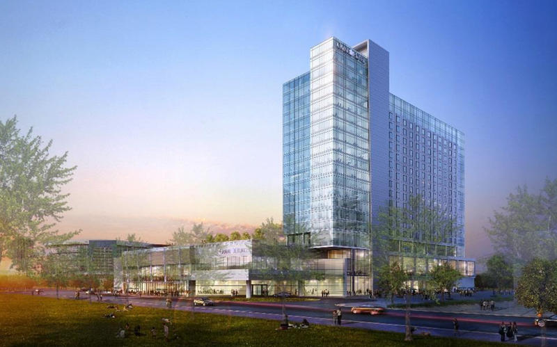 The Omni Hotel is scheduled to break ground in 2018 and be completed in 2020.