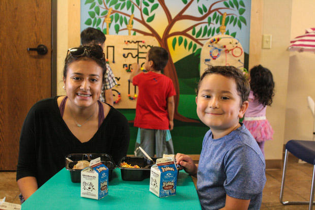 Heidi De Leon, 18, and her younger brother regularly get free lunch through Oklahoma's summer feeding program.