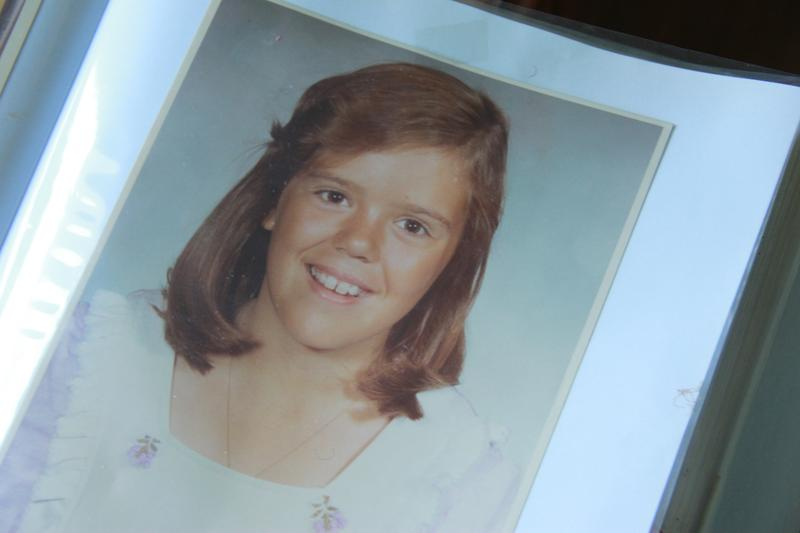 A family photo album shows Robyn Allen when she was in junior high school.