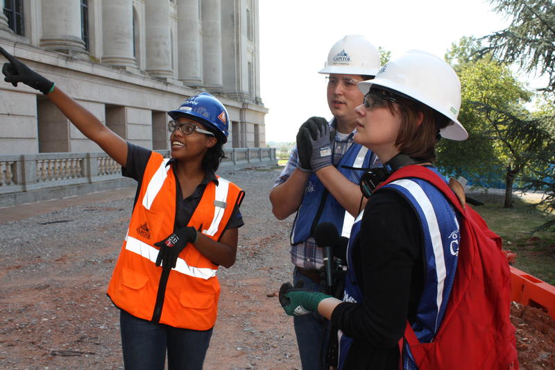 Lynnsee Boyse works for J.E. Dunn Construction. She's managing the exterior part of the capitol cestoration project.