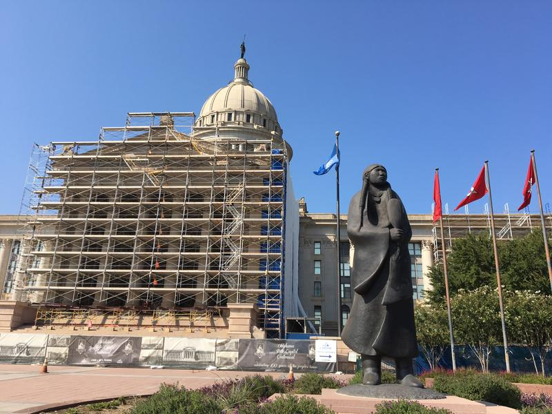 The exterior of the Oklahoma State Capitol