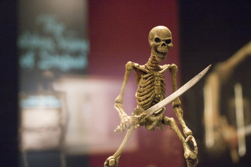 Stop-motion animator Ray Harryhausen brought to life seven skeletons in the 1963 film Jason and the Argonauts. Three of the skeletons are on display at the Science Museum Oklahoma.