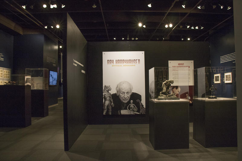 Ray Harryhausen: Mythical Menagerie features more than 100 models, posters and drawings from Harryhausen's films.