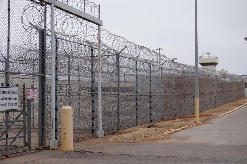 Every new male inmate in the Oklahoma prison system arrives through this gate at the Lexington Assessment and Reception Center in Cleveland County. Blood is drawn from inmates for testing and certain results can lead to further tests for hepatitis C.