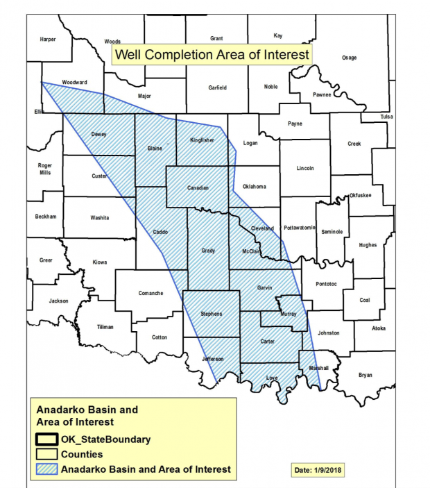 Updated guidelines from the Corporation Commission affect companies fracking wells in western Oklahoma oil fields.