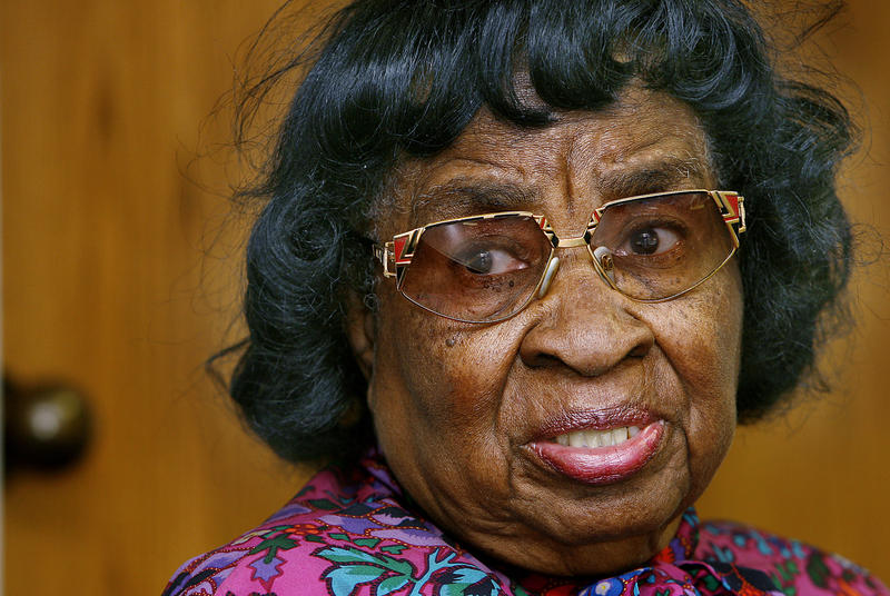 This March 1, 2006 file photo shows civil rights pioneer Clara Luper in Oklahoma City.