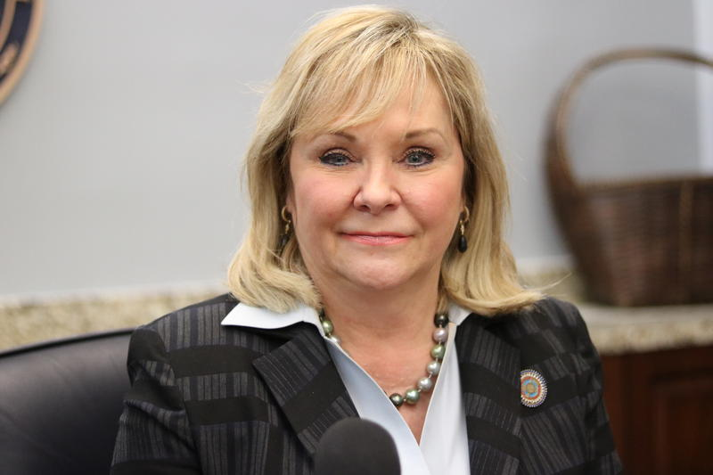 Oklahoma Gov. Mary Fallin talks with KGOU's Capitol Insider