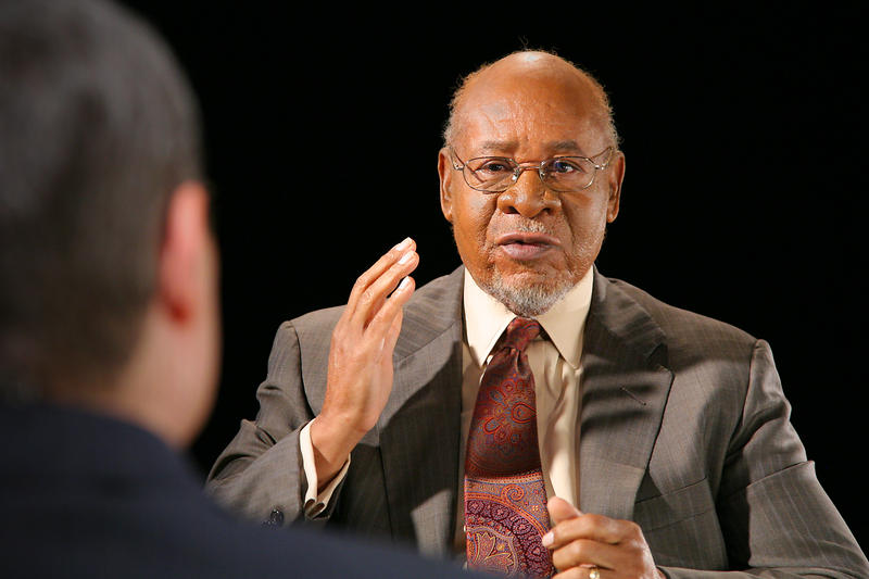 "Civil rights activist and educator, Dr. George Henderson shares his experience in the struggle for racial equality during a November 3, 2011 broadcast of OETA's ""A Conversation With..."""