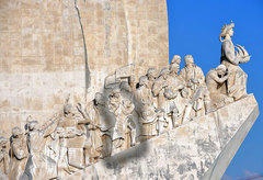 Gomes de Zurara, the Portuguese inventor of blackness (and whiteness), highlighted, on The Monument to the Discoveries in Lisbon, Portugal.