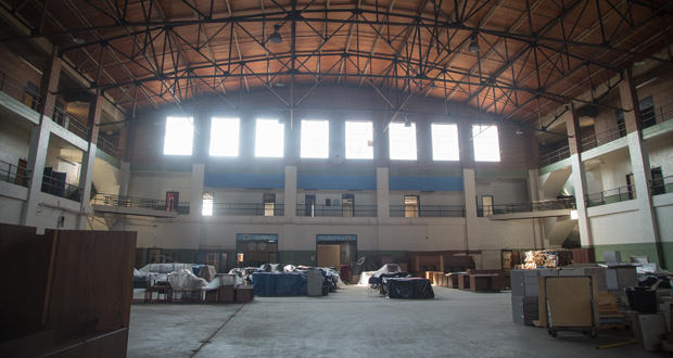 The interior of the 23rd Street Armory building, 200 NE 23rd St. in Oklahoma City.