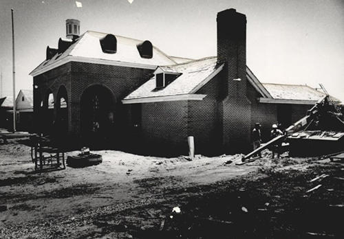 Nichols Hills City Hall under construction in 1970.