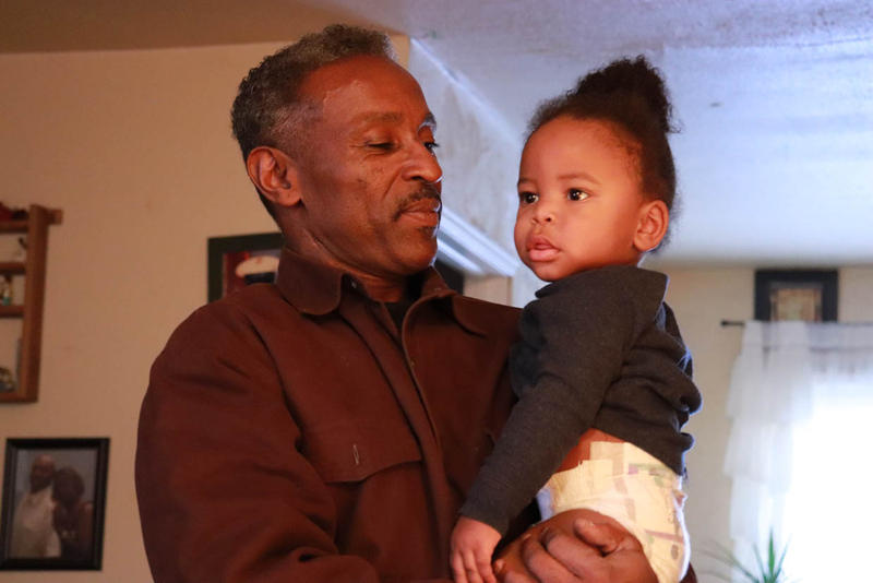 Frank McCarrell and his grandson Roman.  McCarrell served 12 years in prison before he received parole.