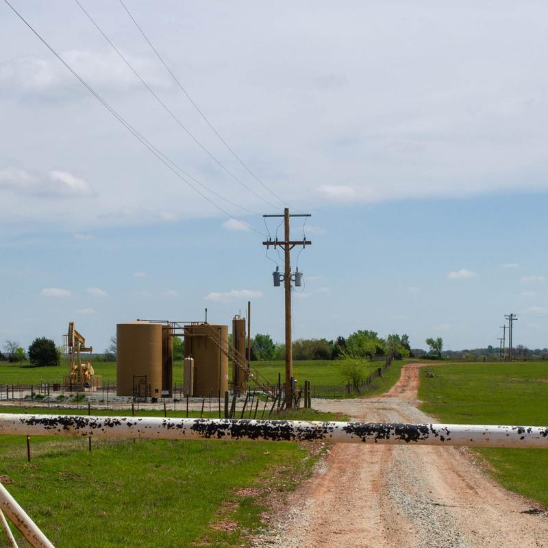 A disposal well owned by New Dominion near Prague, Okla.