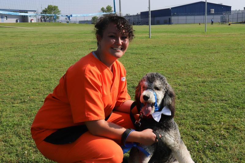 McAlester is the seventh dog Lacey Wallace has trained for the Guardian Angels program at Mabel Bassett Correctional Center.
