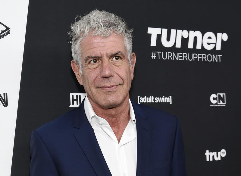 Anthony Bourdain attends the Turner Network 2016 Upfronts at Nick & Stef's Steakhouse