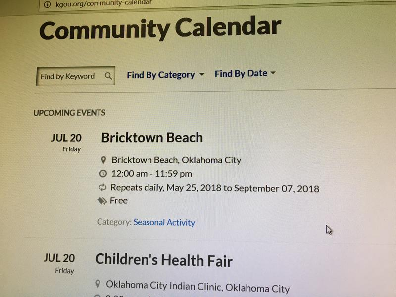 KGOU Community Events Calendar