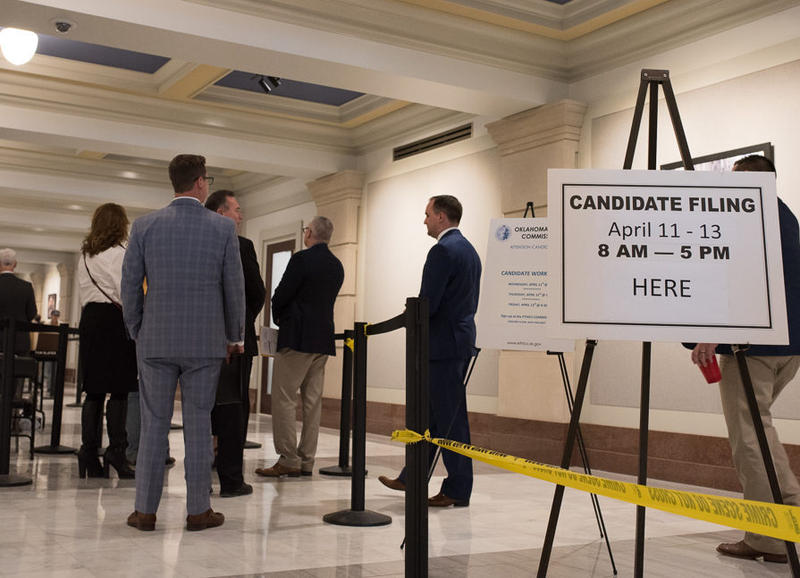Candidates lined up at the State Capitol on April 11 to file to run for office.