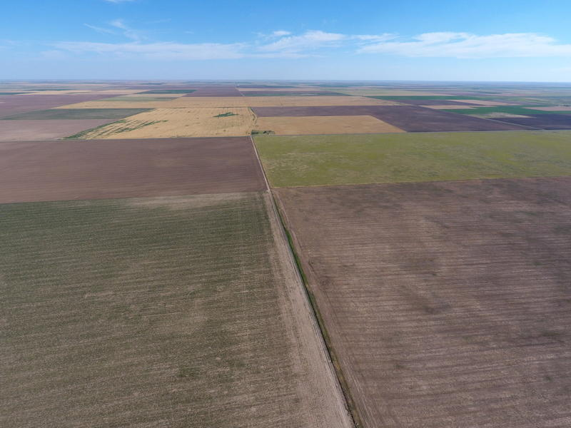 Aerial view of the Wind Catcher site in Oklahoma's Panhandle.