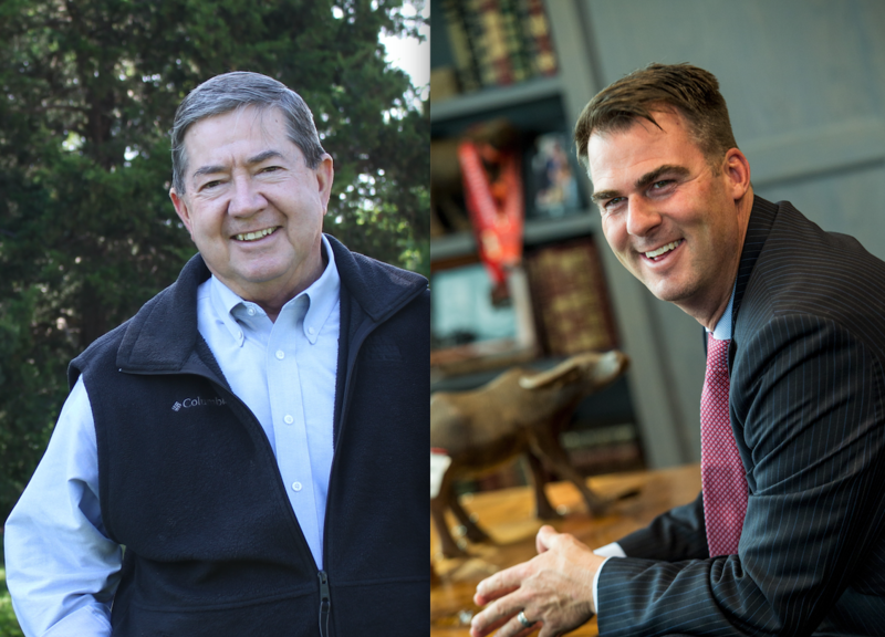 Former state Attorney General and Democrat Drew Edmondson and Republican businessman Kevin Stitt will face off in the Nov. 6 election for governor. Libertarian Chris Powell is also in the race.