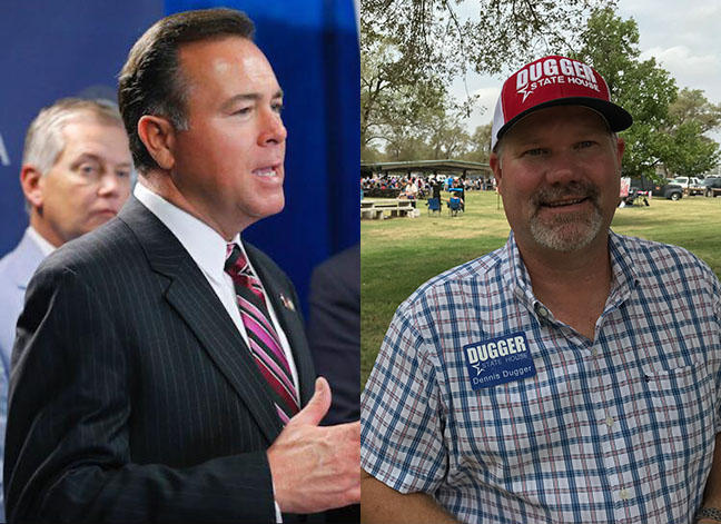 State Rep. Todd Russ, R-Cordell, (left) is facing Democratic challenger Dennis Dugger this November.