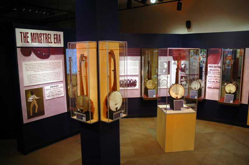 The Minstrel Era exhibit at the American Banjo Museum