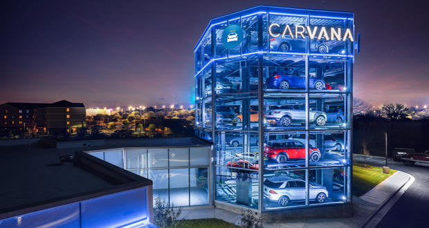 A Carvana vehicle vending machine in Austin, Texas.