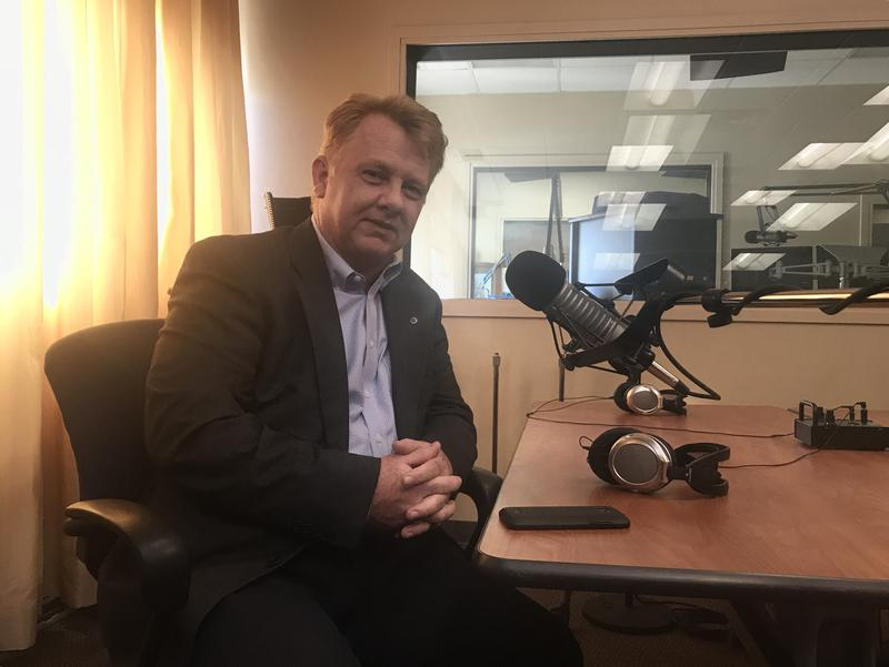 Libertarian gubernatorial candidate Chris Powell visited KGOU on October 11, 2018.