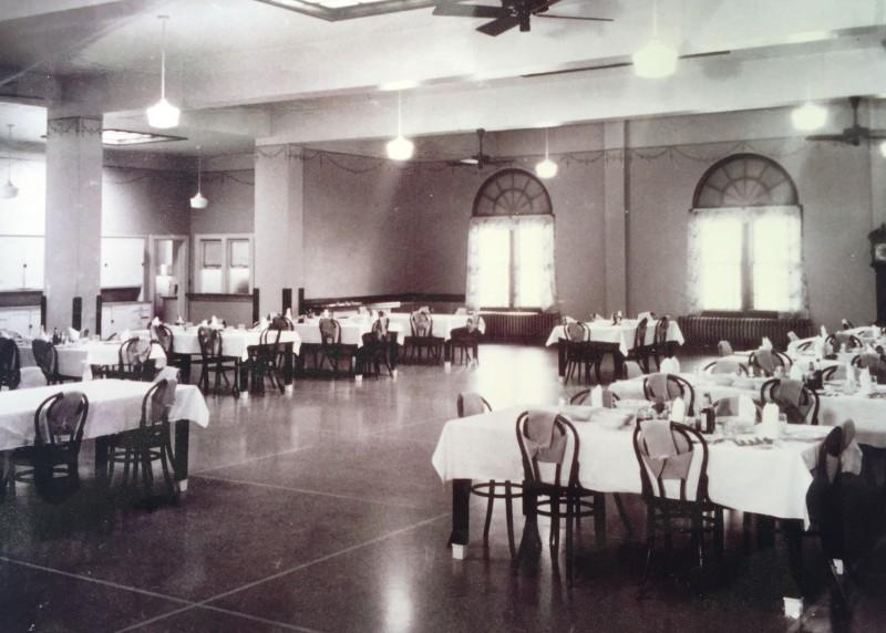 The dining room at the Masonic Childrens Home in Guthrie.