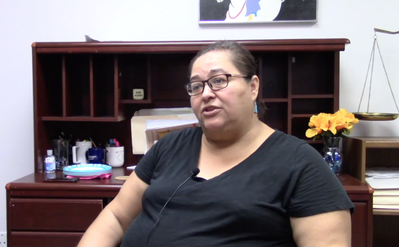Stephanie Hudson, Executive Director of Oklahoma Indian Legal Services, speaks in support of the Indian Child Welfare Act in a Facebook video published on Oct 5, 2018.