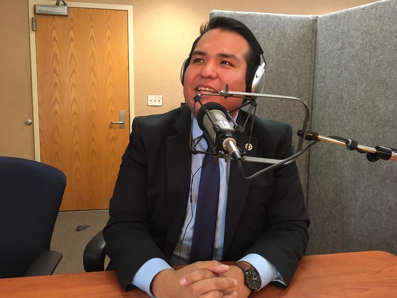 Julian Guerrero Jr. visited KGOU on Nov 16, 2018.